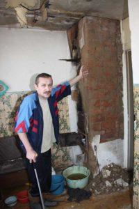 4 года течёт крыша в квартире инвалида I группы Александра Ярошевича с д. Хорева