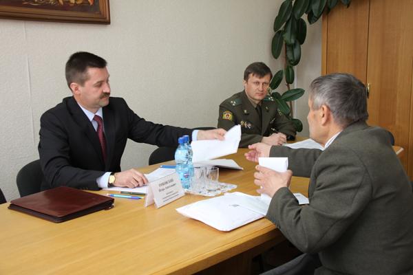 В Пружанах провел встречу с населением председатель Государственного пограничного комитета РБ И.А. Рачковский