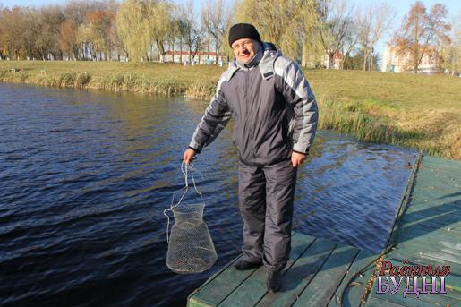 Самую вялікую рыбіну злавіў Сяргей Сарокаў з Ганцавічскага раёна