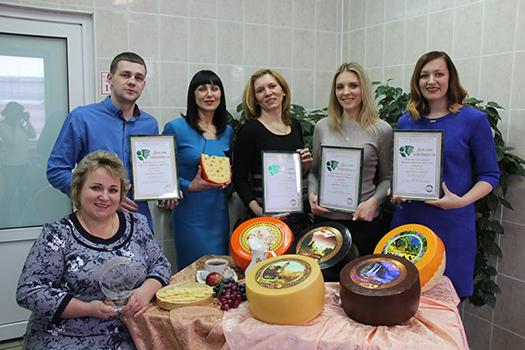 Сыры ОАО «Пружанский молочный комбинат» — «Лучший товар Республики Беларусь — 2016 года»