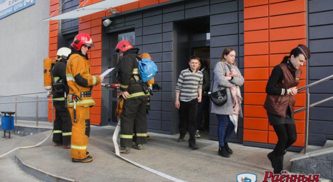 «Евроопт» стал площадкой для учений МЧС. И спасатели, работники магазина с задачей справились