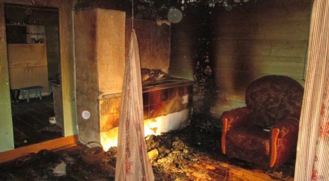Предположительная причина пожара в Великом Селе — неосторожное обращение с огнем при курении