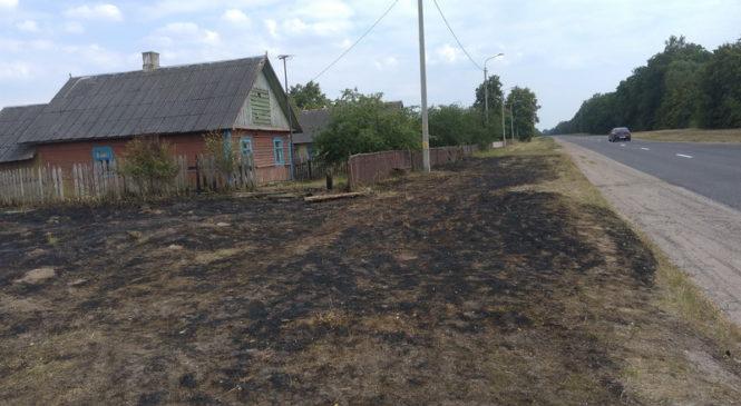 Спасатели Пружанщины трижды выезжали на тушение сухой травы