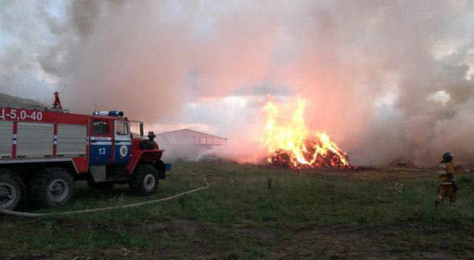 Из-за вчерашней грозы на территории района произошло два возгорания и один пожар