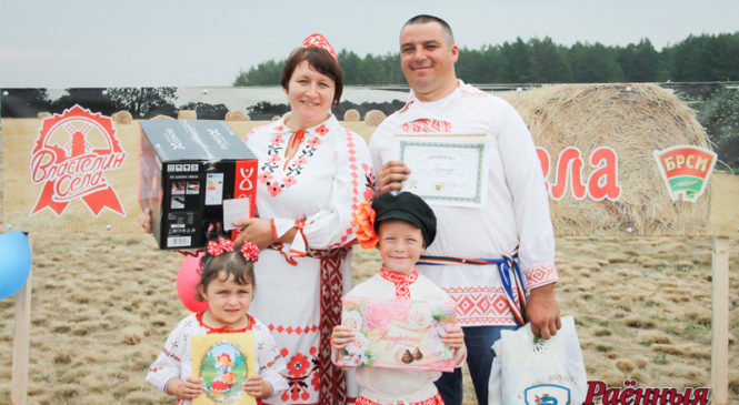 На районном этапе «Властелина села» победила семья Ярошуков из Сухополя