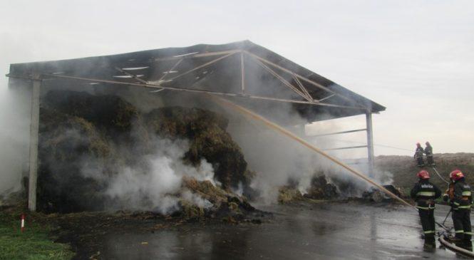 Пожар в ОАО «Мурава» уничтожил 18 тонн сена