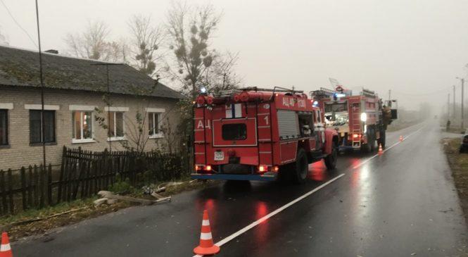 Пожар в Больших Яковичах тушили два отделения пожарной аварийно-спасательной части