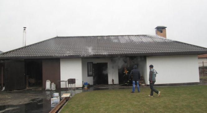 23 февраля в Пружанах горела частная баня