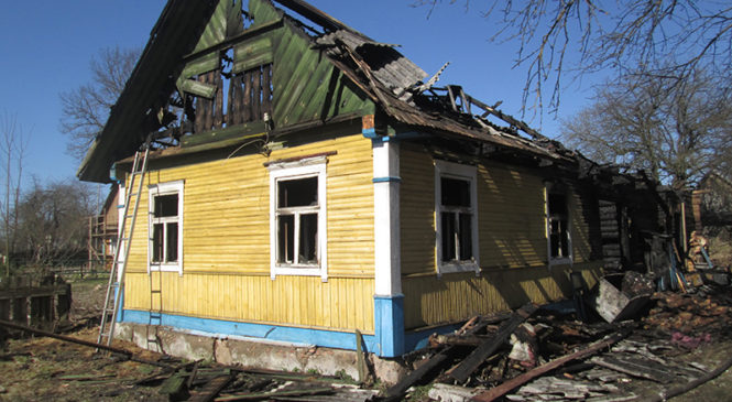 В Березнице сгорел дом