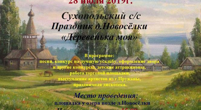 Новосёлки приглашают на праздник «Деревенька моя»