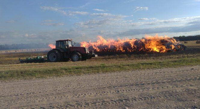Сразу два пожара произошло в ОАО «Пружанское» 23 июля