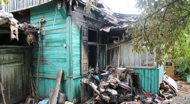 В Пружанах при пожаре в жилом доме на улице Янки Купалы никто не пострадал