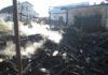 В Белом Леске из-за кормозапарника возник пожар. Соблюдайте правила эксплуатации!