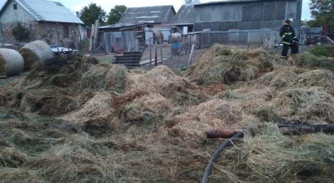 Детская шалость стала причиной возгорания соломы в Ружанах