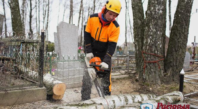 «Коммунальник» приступил к наведению порядка на городском кладбище