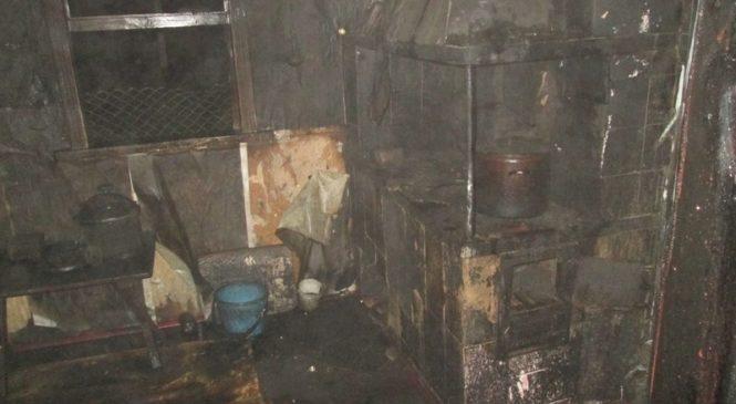 При пожаре в Красном хозяин дома получил ожоги