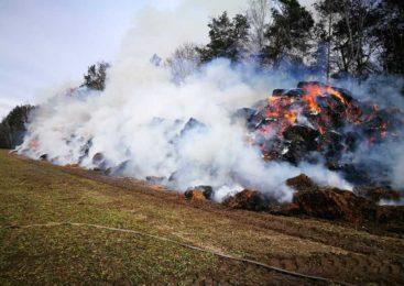 При пожаре в ОАО «Ружаны-Агро» уничтожена скирда соломы