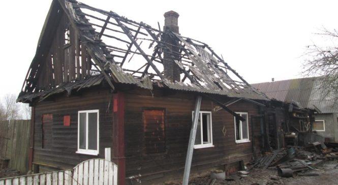Ночью 20 февраля в Добучине произошел пожар в жилом доме