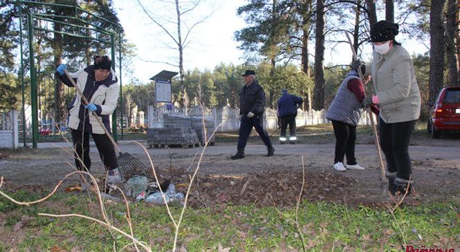 Более 300 человек перечислили деньги на благоустройство кладбища в Шенях. Наводили порядок всем агрогородком