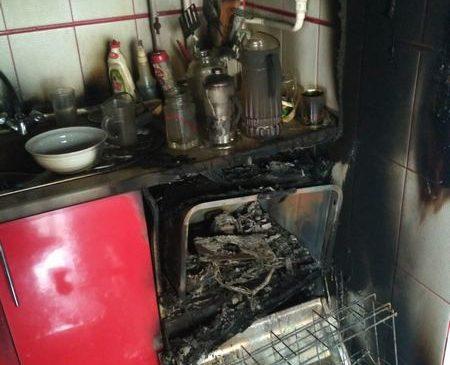 Короткое замыкание посудомоечной машины стало возможной причиной пожара в Пружанах