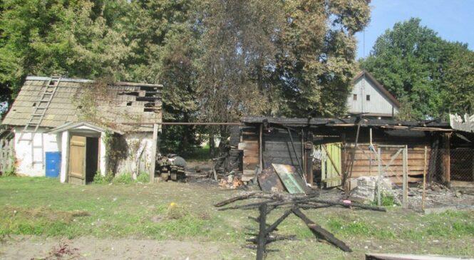 В Хореве горело хозяйственное строение