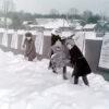Гісторыя з фатаграфіяй. Снежная зіма ля першай школы