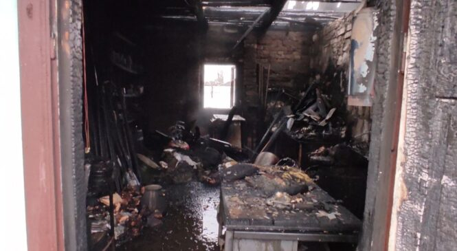 Неосторожность с огнем опять привела к пожару