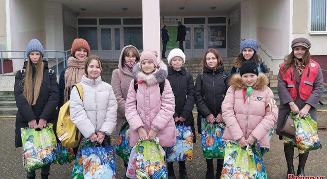 Пружанскія школьнікі актыўна ўключыліся ў дабрачынную акцыю «Цуды на Каляды»