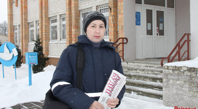 Паштальён Аліна Ясковіч: «Раёнку» ў Шарашэве любяць»