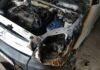 В Пружанах горел автомобиль «Ситроен-Берлинго»