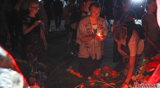 У Пружанах адбыўся мітынг-рэквіем каля помніка «Спаленым вёскам»